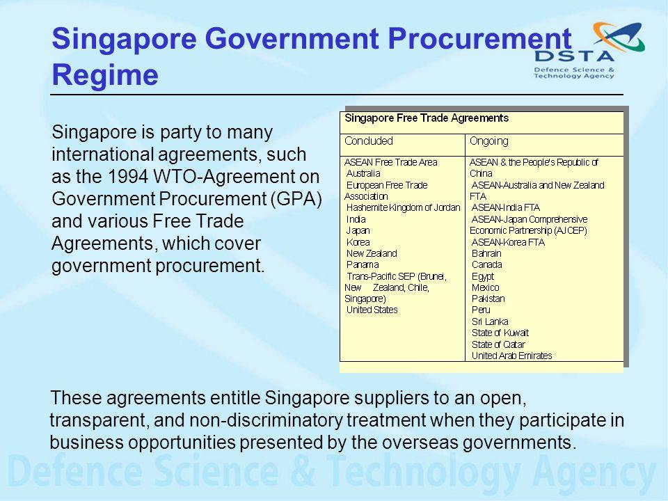 Singapore Government Procurement Regime