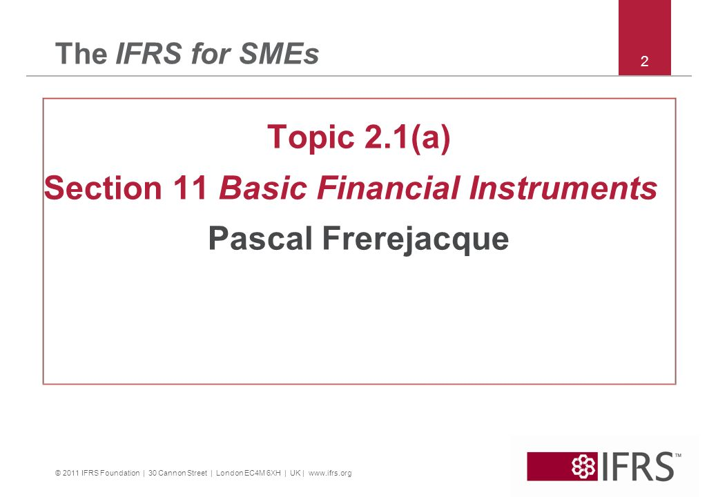 Topic 2.1(a) Pascal Frerejacque