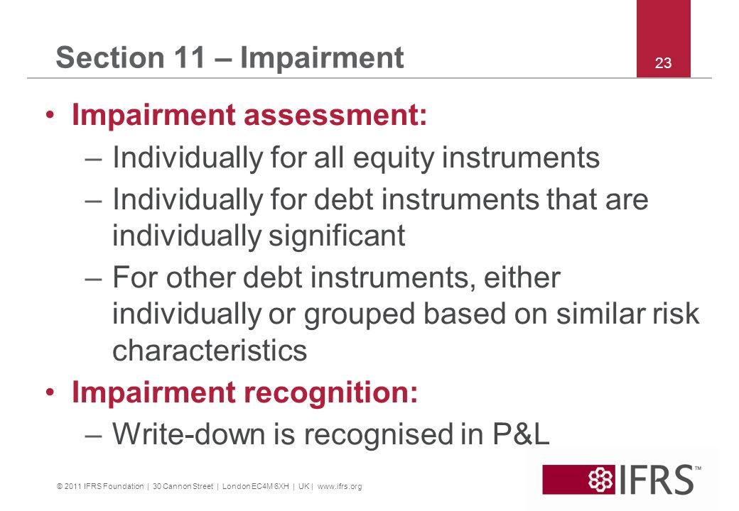 Impairment assessment: Individually for all equity instruments