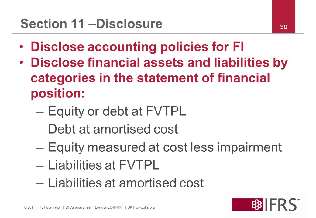 Disclose accounting policies for FI