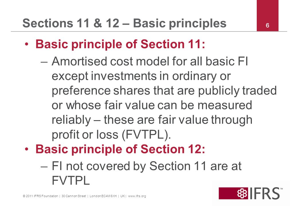 Sections 11 & 12 – Basic principles