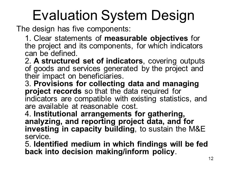 Evaluation System Design