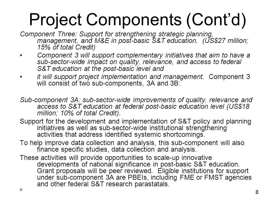 Project Components (Cont'd)