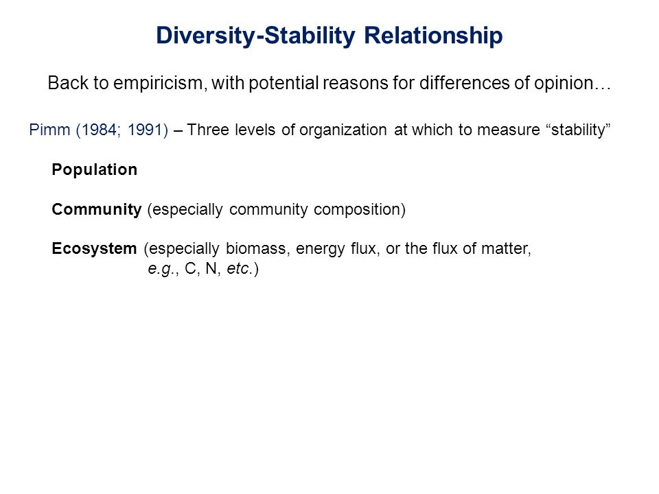 diversity and stability relationship