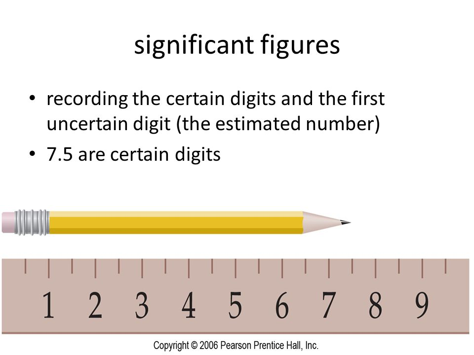 significant figures recording the certain digits and the first uncertain digit (the estimated number)