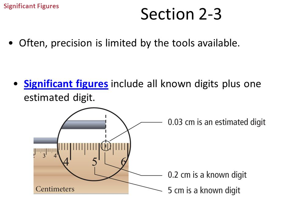 Section 2-3 Often, precision is limited by the tools available.