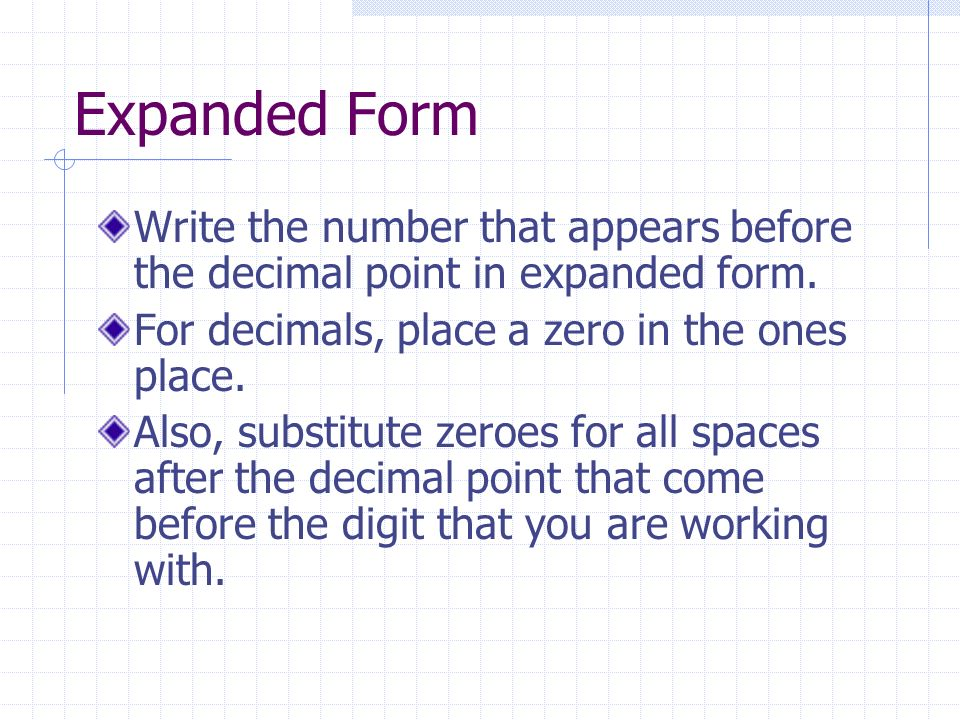 Write a ten digit number in expanded form