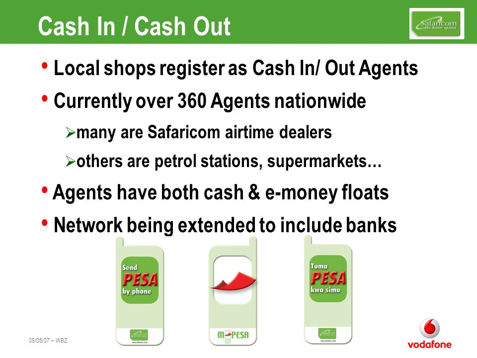 Cash In / Cash Out Local shops register as Cash In/ Out Agents
