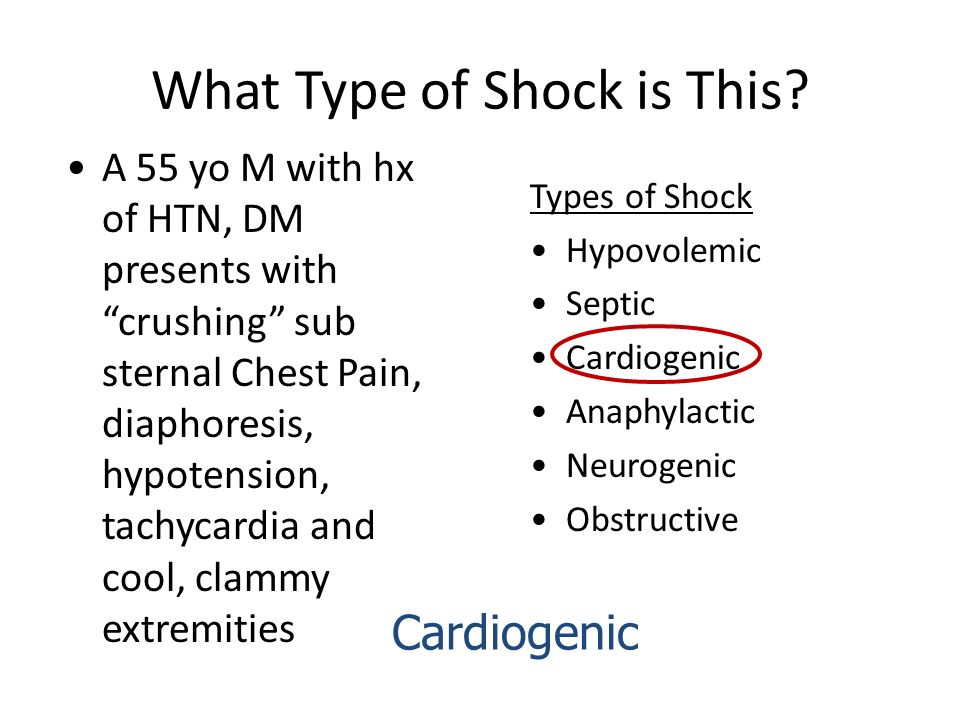 What Type of Shock is This? - ppt video online download