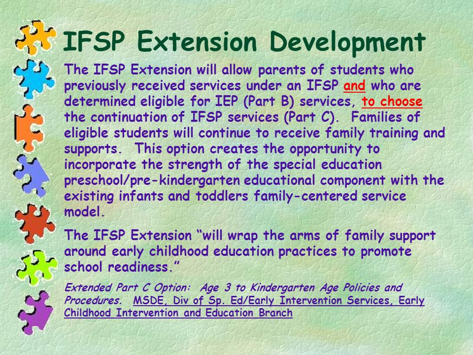 IFSP Extension Development