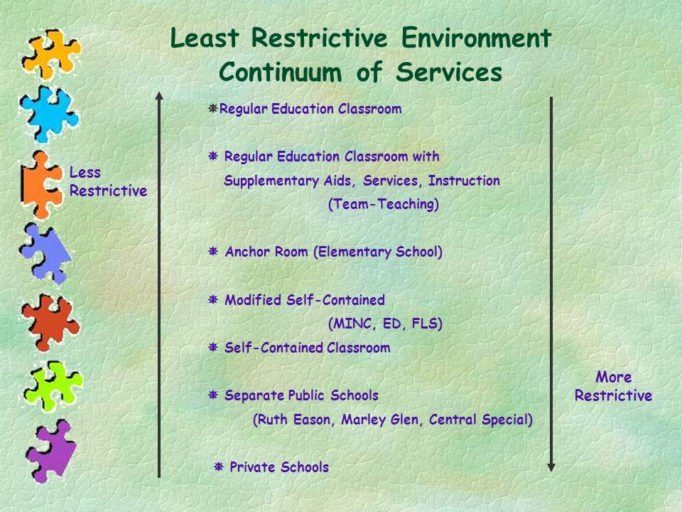 Least Restrictive Environment Continuum of Services