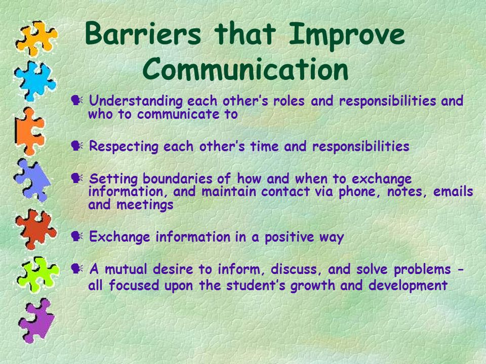 Barriers that Improve Communication