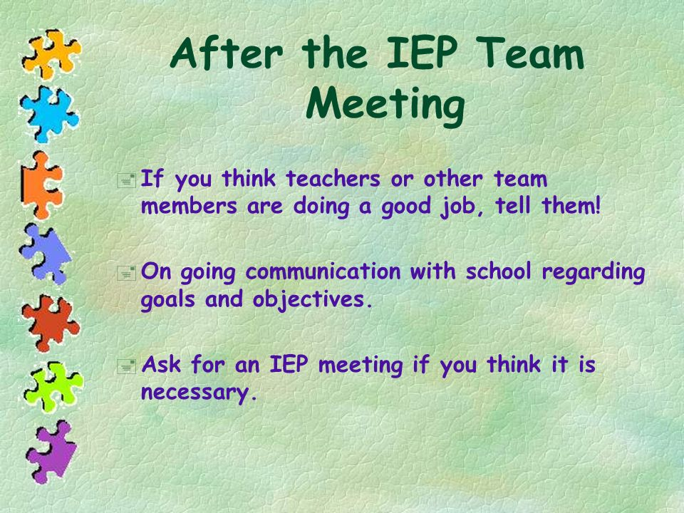 After the IEP Team Meeting