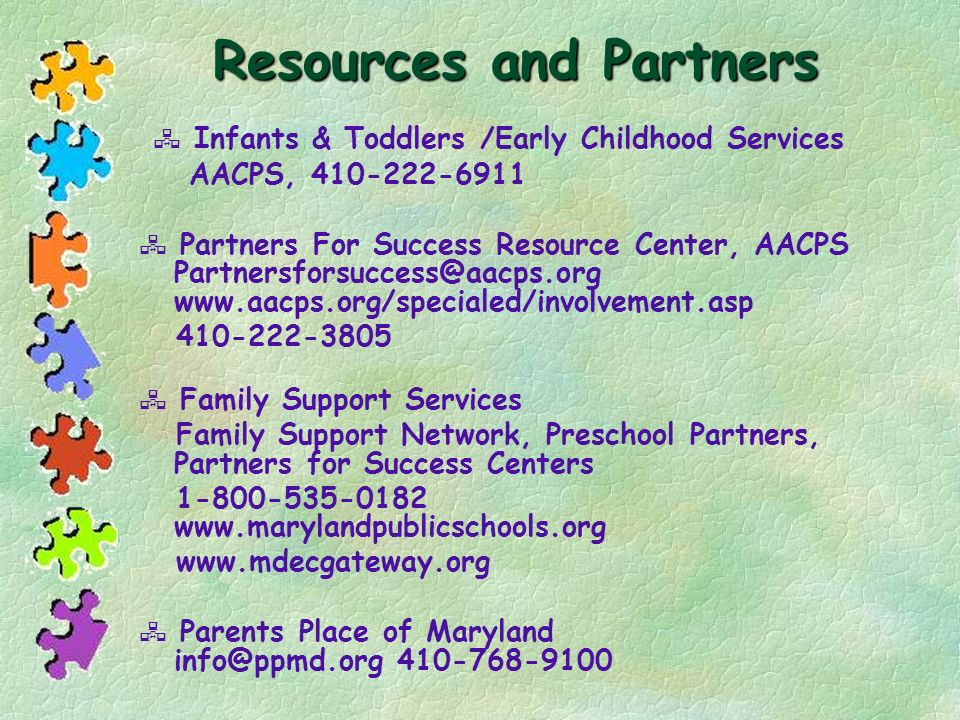 Resources and Partners