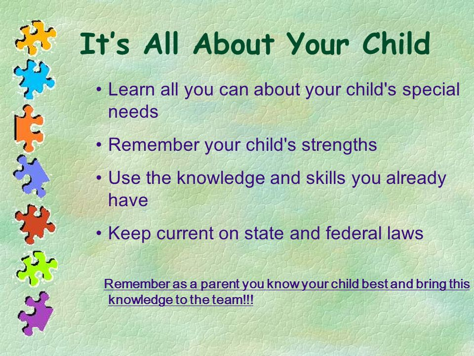 It's All About Your Child