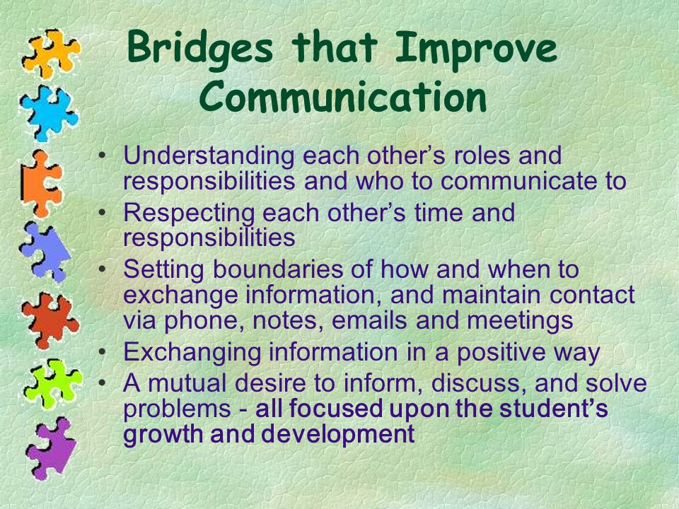 Bridges that Improve Communication