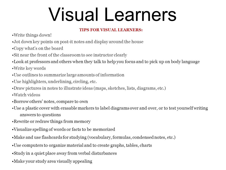 i am a visual learner essay