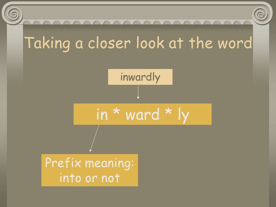 Taking a closer look at the word