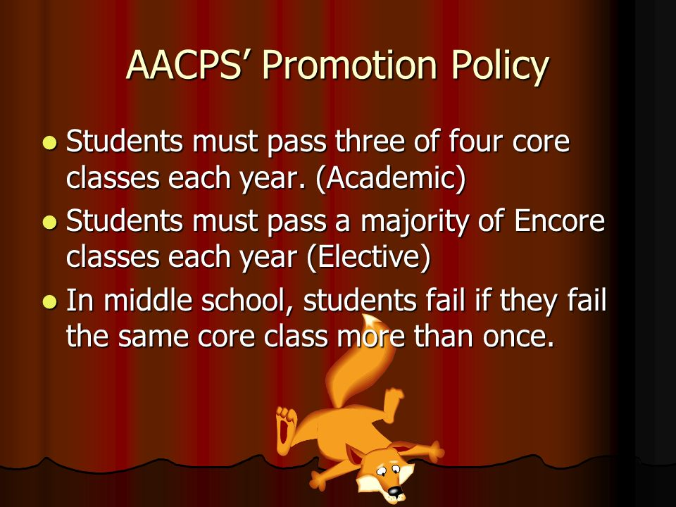 AACPS' Promotion Policy
