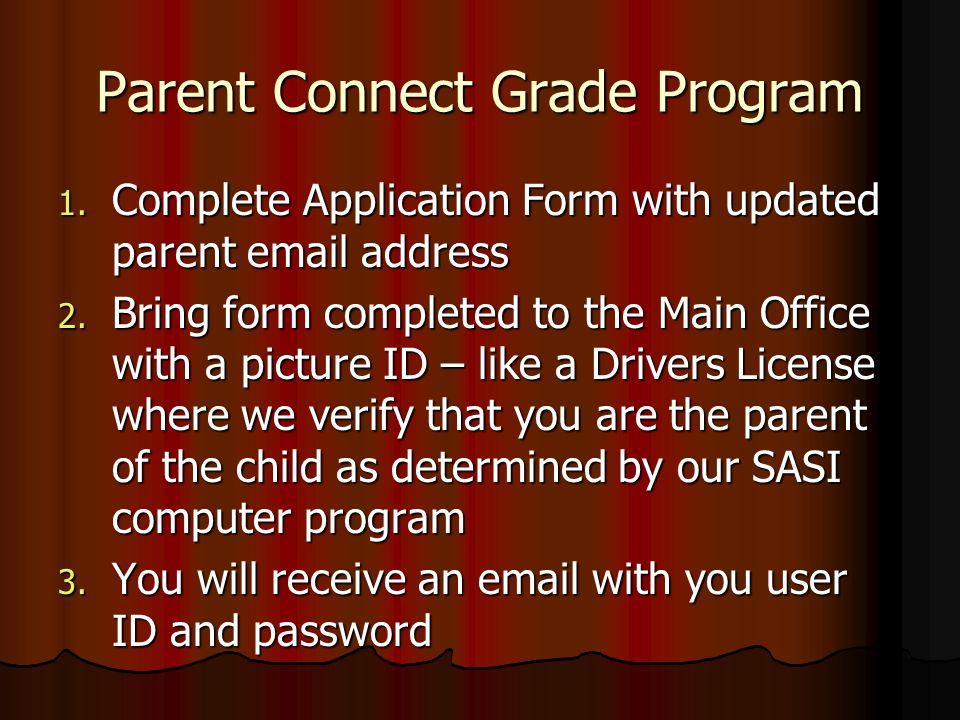 Parent Connect Grade Program