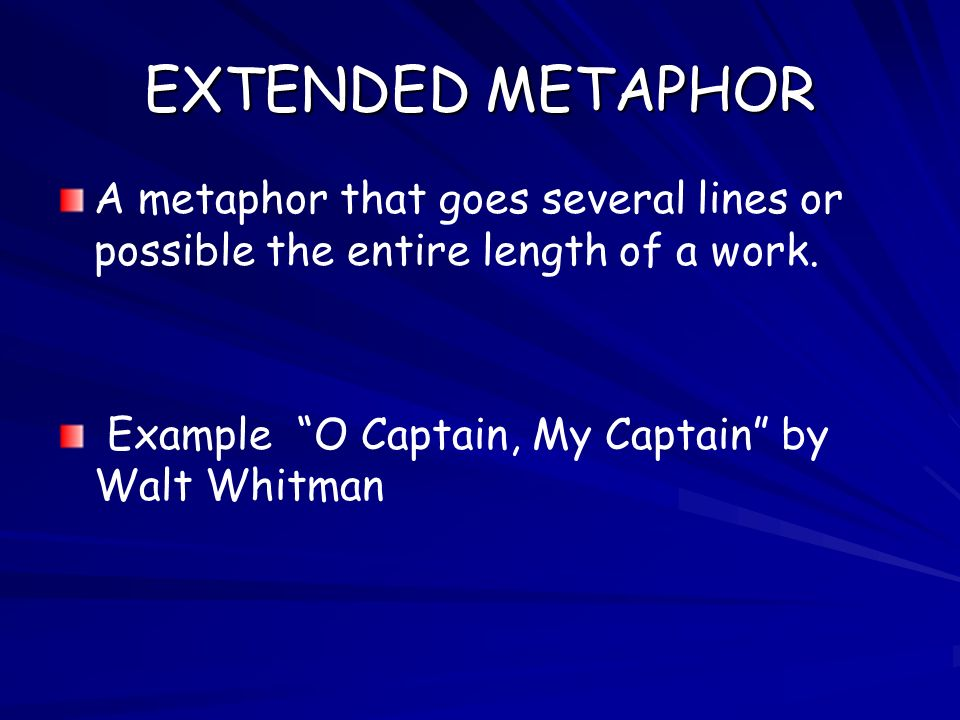explanation of the metaphorical poem o captain my captain by walt whitman O captain my captain our fearful trip is done, walt whitman is america's world poet—a latter-day successor to homer, virgil, dante, and shakespeare.