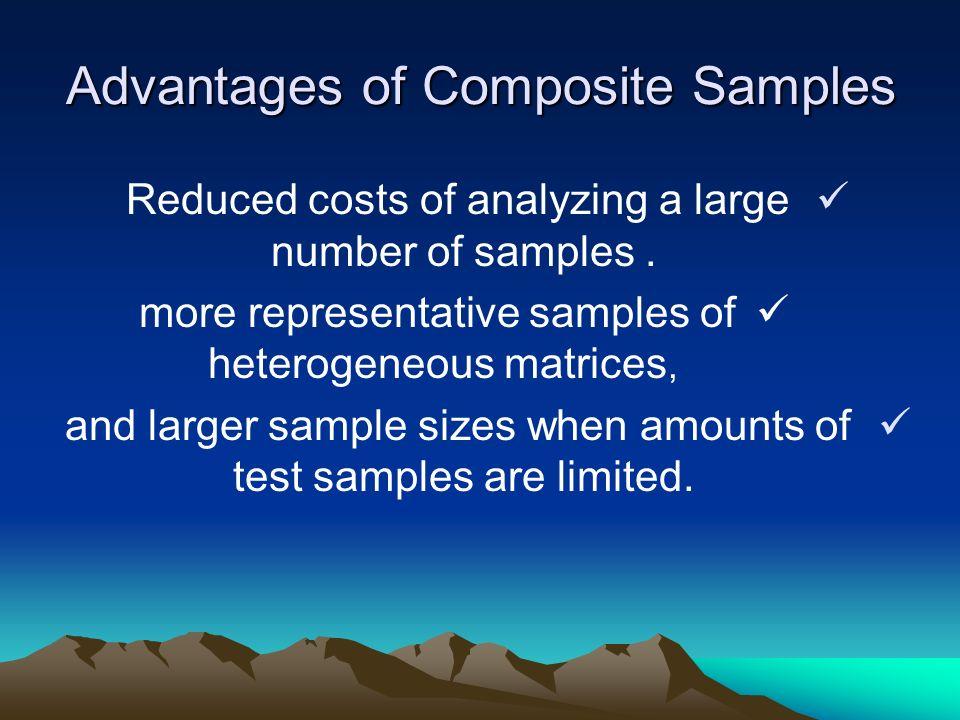 Advantages of Composite Samples