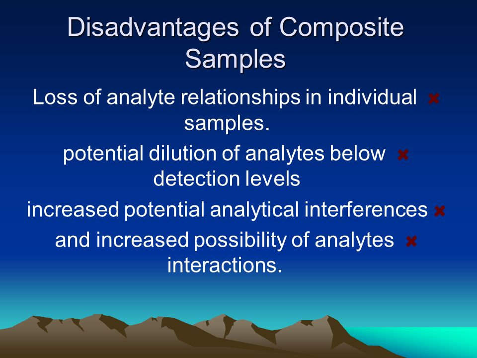 Disadvantages of Composite Samples