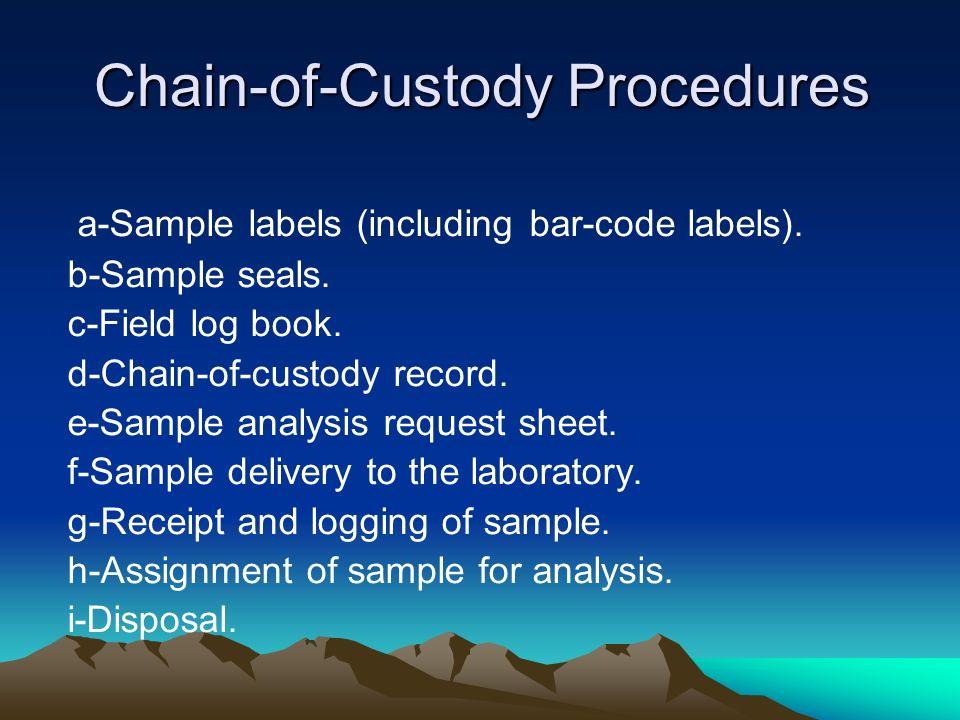 Chain-of-Custody Procedures