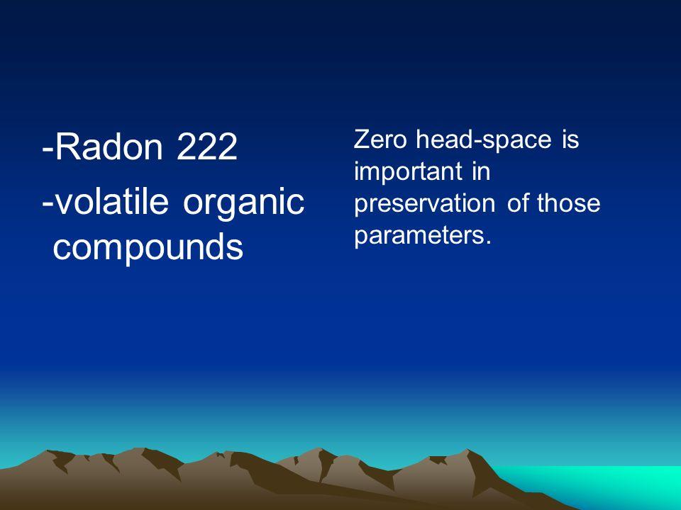 -volatile organic compounds