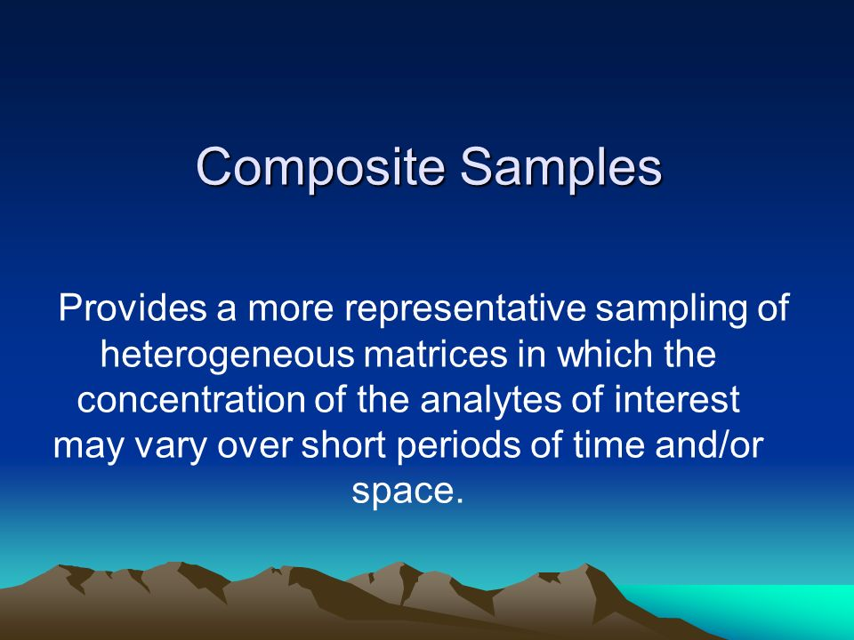 Composite Samples