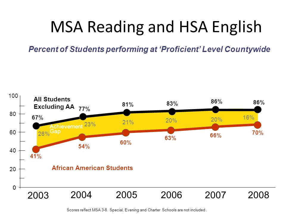 MSA Reading and HSA English