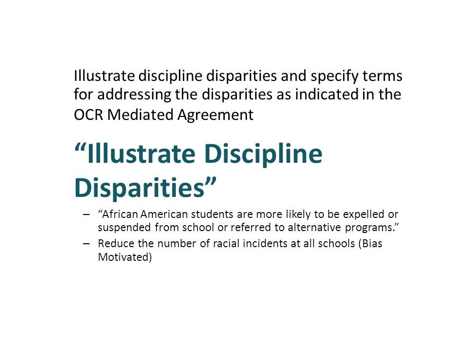 Illustrate Discipline Disparities