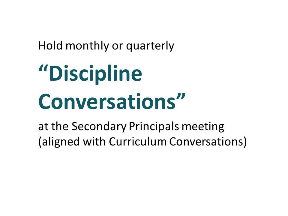 Discipline Conversations