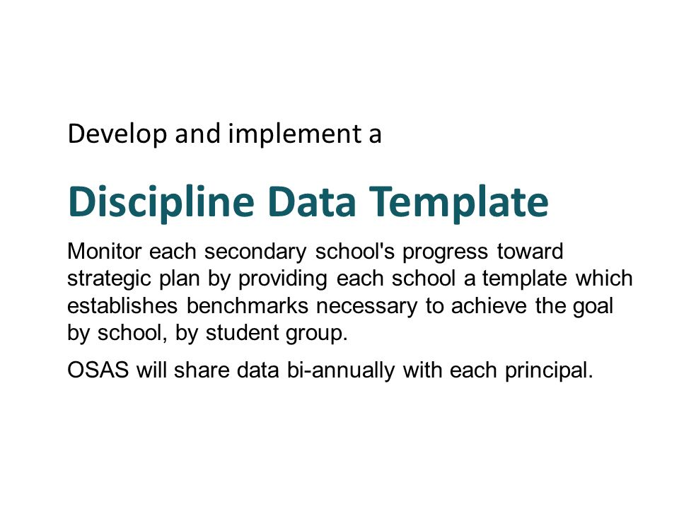 Discipline Data Template