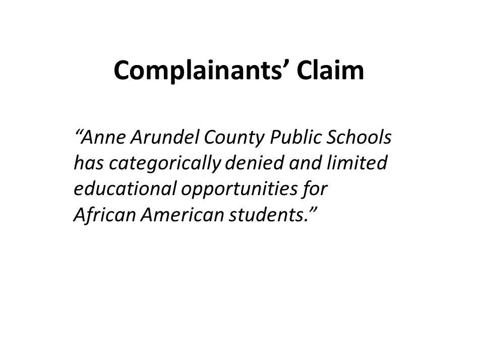 Complainants' Claim