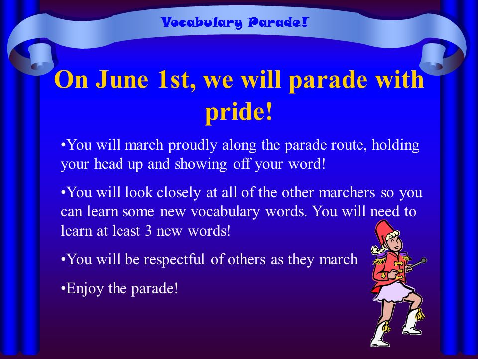 On June 1st, we will parade with pride!