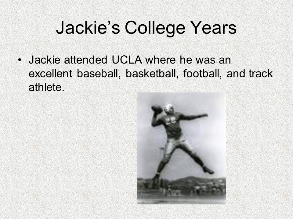 Jackie's College Years