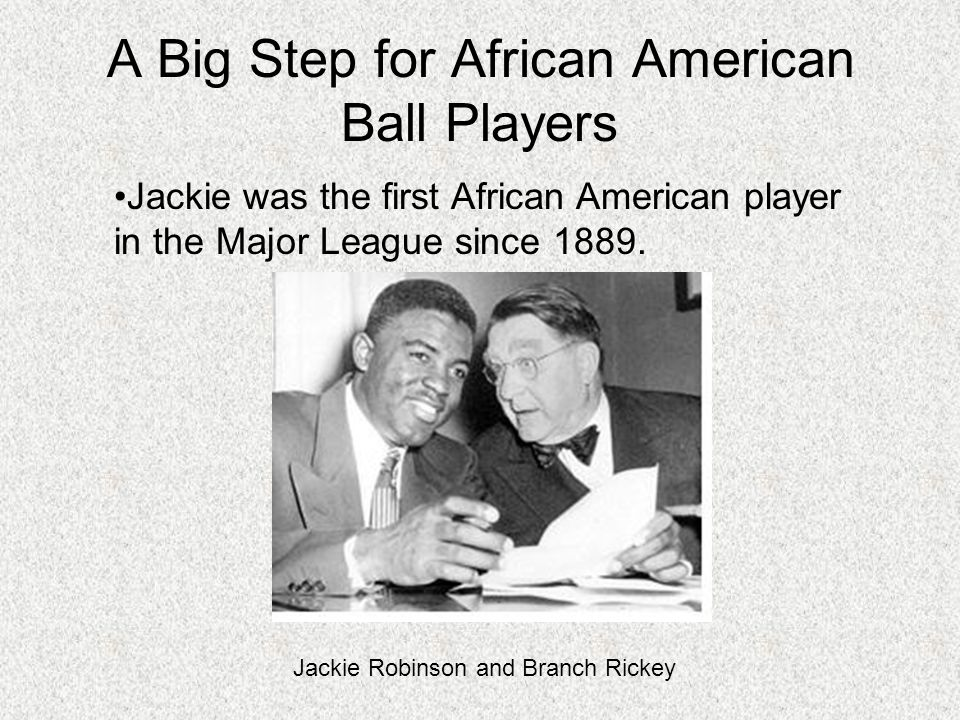 A Big Step for African American Ball Players