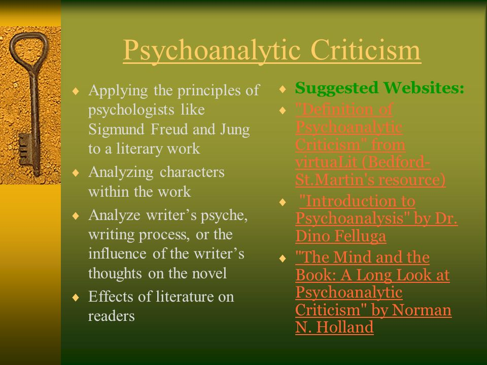 concepts of psychoanalytical theory Section 1: sigmund freud's view of personality sigmund freud's view of personality sigmund freud's life may be a classic example of psychoanalytic theory.