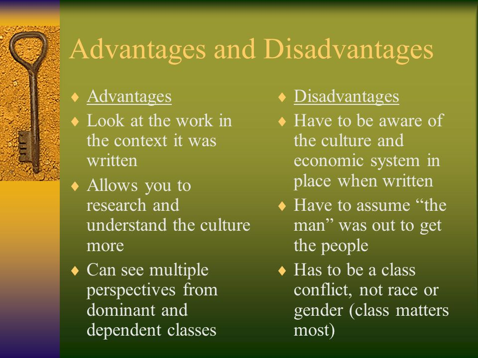 conflict theory advantages and disadvantages