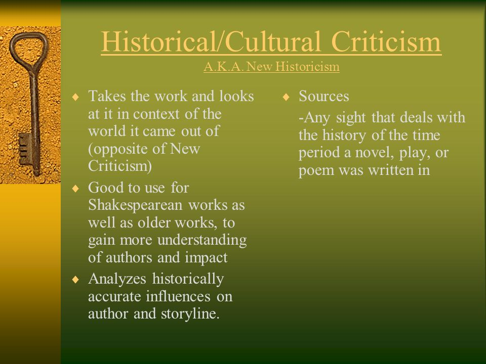New historicist criticism essay