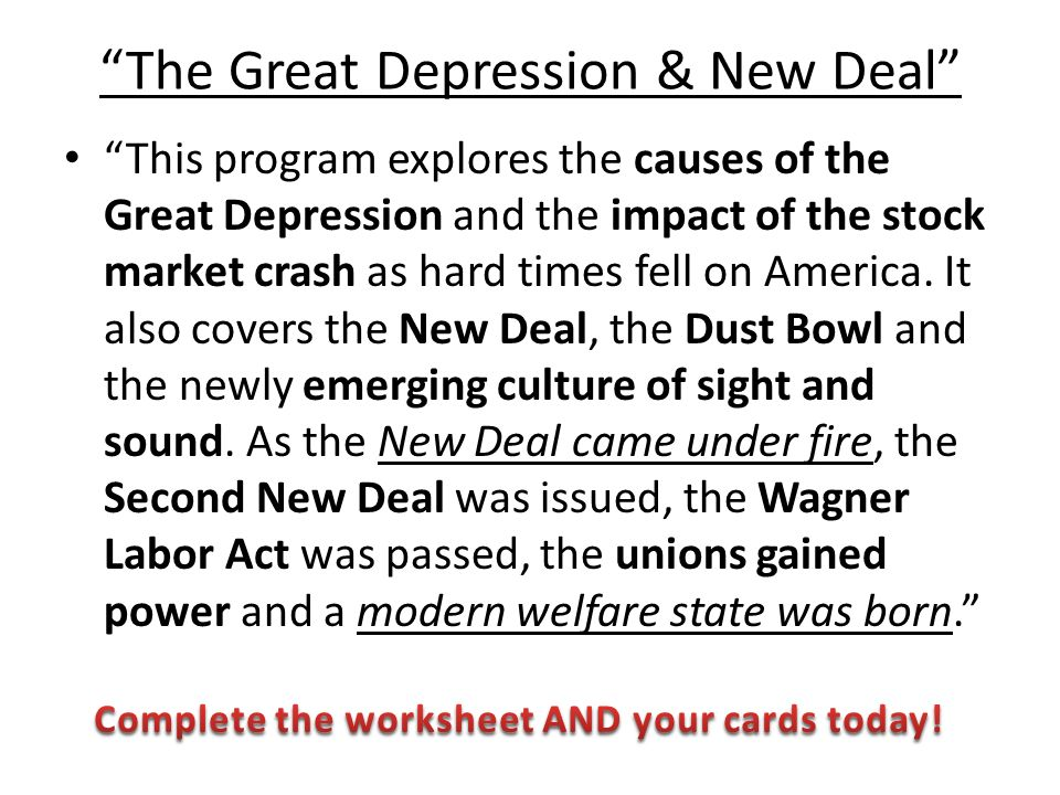 great depression impact on us Franklin d roosevelt's new deal an effect of great depression franklin d roosevelt introduced programs between 1933 and 1938, designed to help america pull out of the great depression by addressing high rates of unemployment and poverty.
