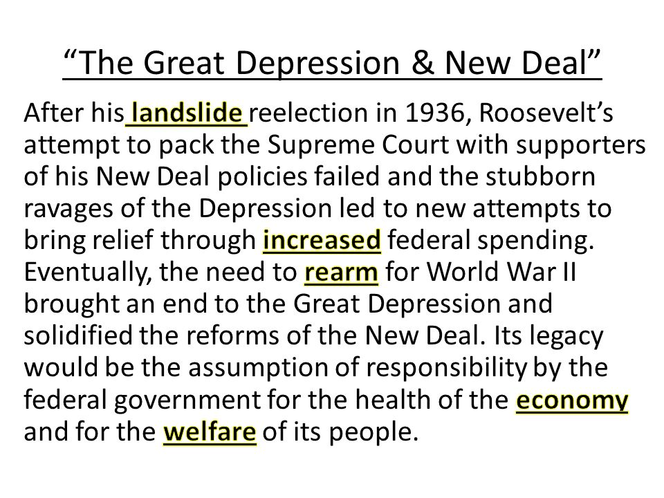 the great depression brought changes to Study great depression and world war ii, 1929 - 1945 flashcards at proprofs - great depression and world war ii, 1929 - 1945.