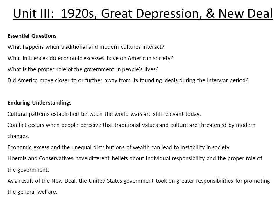 relationship between the new deal and great depression