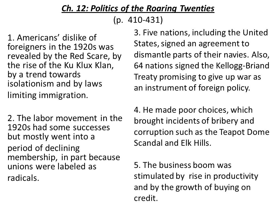 essay on the roaring twenties The roaring twenties the 1920's was a time for big change in the us after world war i this was the roaring 20's , which had a big impact on the economy.