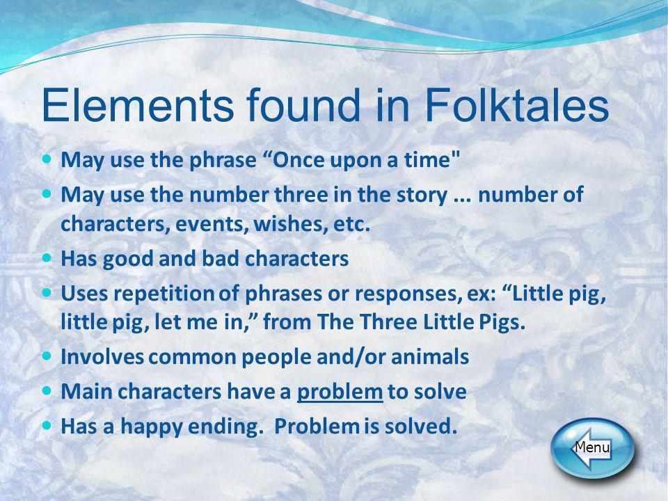 Elements found in Folktales