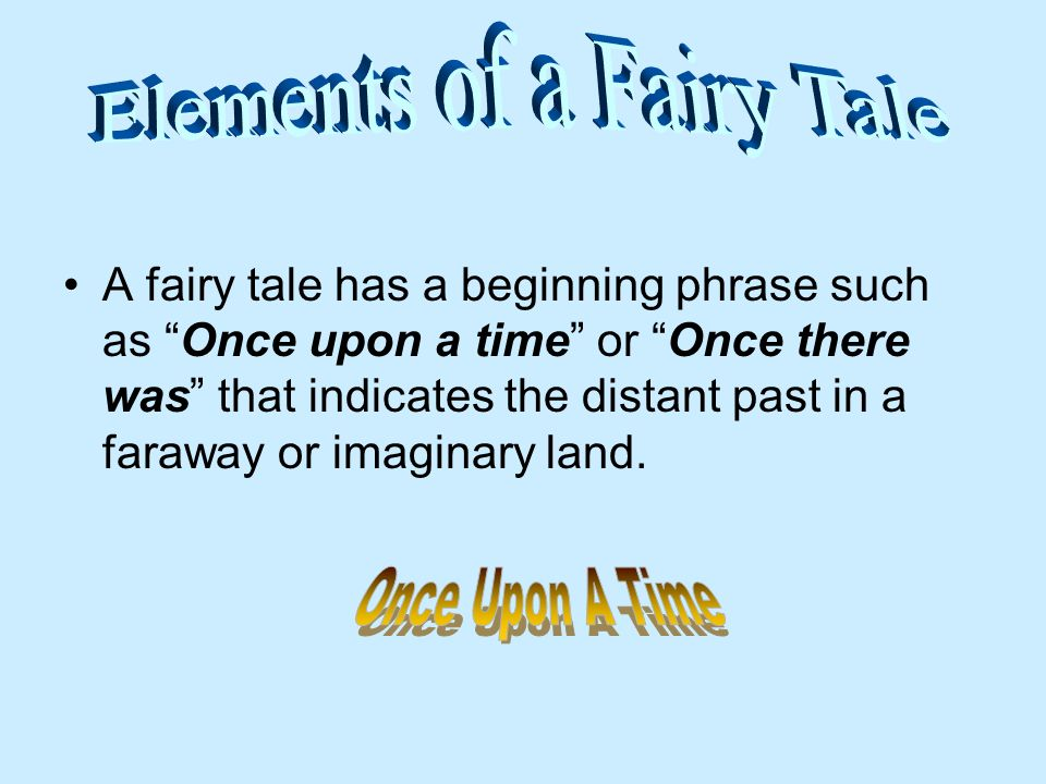 Elements of a Fairy Tale
