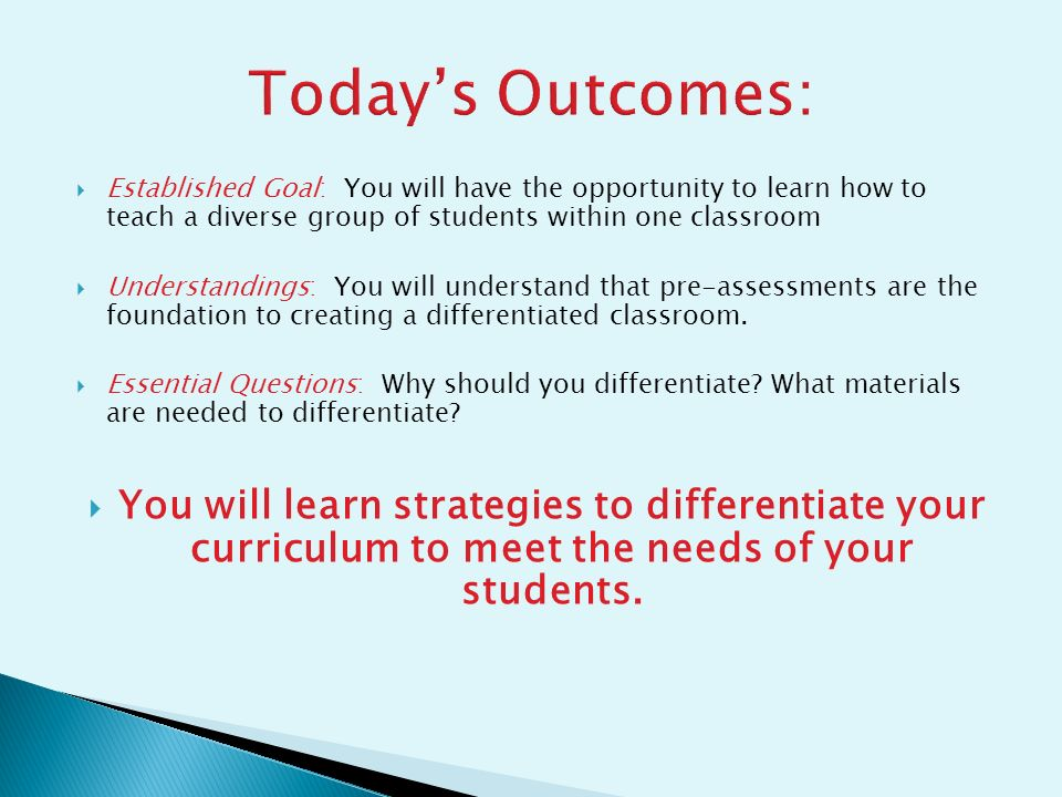 what teachers need to know about differentiated instruction