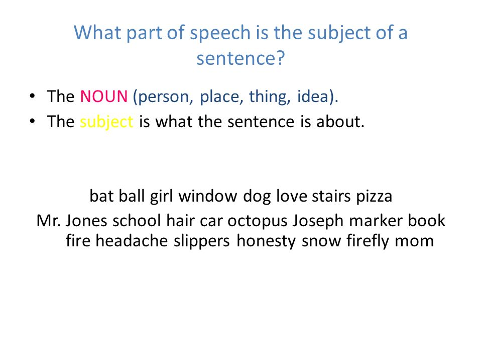 Simple sentences ppt video online download for Sentence of floor