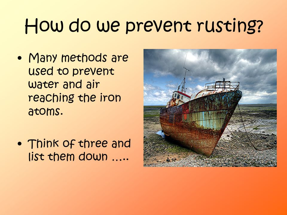 how to keep iron from rusting